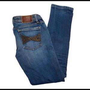 Vigoss Collection Studded Back Pocket Jeans Sz 27